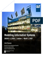 IAB201 - Modelling Information Systems - Lecture - 1.1.2016