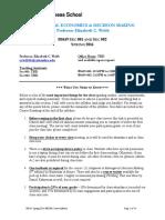 Behavioral Economics & Decision Making (Webb) SP2016 (1)