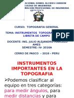 Diap.instrumentos Topograficos 2da Clase 2016A