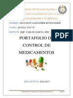 Portafolio de Control de Medicamentos - Diarios de Campo
