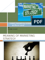 Export Marketing Strategy at Micro Level