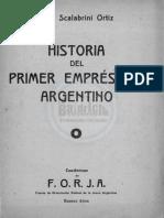 ORTIZ, R. S. Historia Del Primer Emprestito Argentino