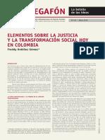 ORDÓÑEZ - Elementos Sobre La Justicia y La Transformación Social en Colombia