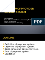 Provider Payment System