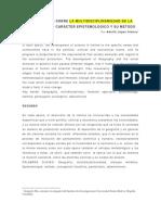 Multidisciplinariedad de La Geografía