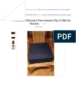 Almohadón Elevador Para Asiento Fijo O Silla De Ruedas - $ 495,00 en MercadoLibre
