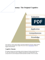 Bloom Taxonomy the Original Cognitive Domain
