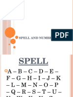 Spell and Numbers
