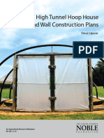 High Tunnel Hoop House Portable End Wall Construction Plans by Steve Upson