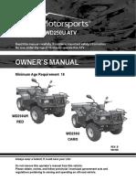 72 OWNERS MANUAL - WD250U-L - Wilderness Trail 250cc ATV Owners Manual Canadian Model VIN Prefix LLCL