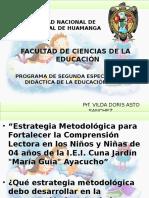 PROGRAMA DE SEGUNDA ESPECIALIDAD EN DIDÁCTICA DE LA EDUCACIÓN INICIAL
