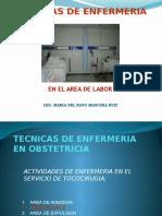 Tecnicas de Enfermeria en El Area de Labor