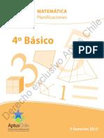 Matematica Planificaciones 4to Basico