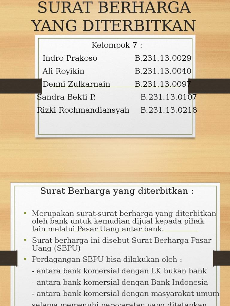 Akuntansi Perbankan Surat Berharga