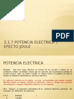 3.1.7 Potencia Eléctrica y Efecto Joule