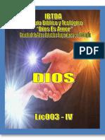 Lic003 IV Dios (Teología IV)