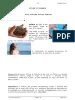 Materia Cuerpo Sustancia Átomo Partícula