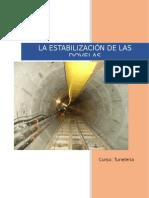 La Estabilización de Las Dovelas en TBM