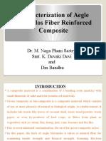 Characterization of Aegle Marmelos Fiber Reinforced Composites