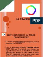 Ma Présentation Francophonie