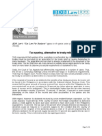 353. Tax Sparing, Alternative to Treaty Relief FDD 7.19.12