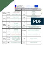 Calendario de Setembro 2016-Materias e Aulas