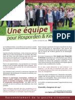 Programme élections municipales 2016