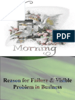 Reason for Failure and Visible Problem