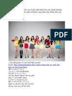 Tiếng Hàn Qua Bài Hát SNSD - Girls vs Peace.
