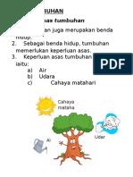 Keperluan Asas Tumbuhan