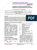 Scientific Approaches for Impurity Profiling in New Pharmaceutical Substances and Its Products-An Overview