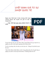 Messi Quyết Định Giã Từ Sự Nghiệp Quốc Tế