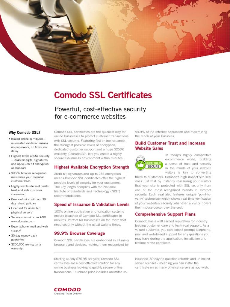 Why Comodo Ssl Certificates For Your Website Public Key