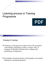 Learning Process in Training Programme