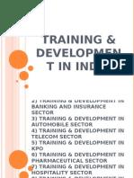 TRAINING & DEVELOPMENT IN INDIA2003