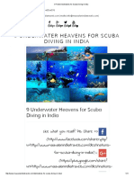 9 Finest Destinations for Scuba Diving in India