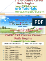 CMGT 575 Course Career Path Begins Cmgt575dotcom