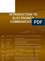 Introduction to Electronics Communication