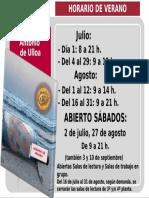CRAI Antonio de Ulloa - Horario de verano 2016