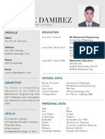 Modern Resume (mechanical engineer)