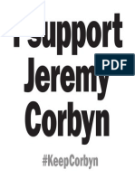 I support Jeremy Corbyn sign