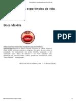 Boca Maldita _ Compartilhamos Experiências de Vida