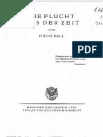 HugoBall Die Flucht Aus Der Zeit