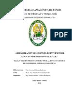 Administracion Del Servicio de Internet Del Campus Universitario de La u.a.p 2