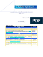 Calendario de Examenes ORDINARIOS 2010-2