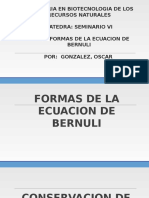 Formas de La Ecuacion de Bernuli