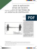 Criterios Para La Aplicacion de Esquemas de Recierre Automatico en Las Lineas de Un Sistema de Distribucion (DOCUMENTO)