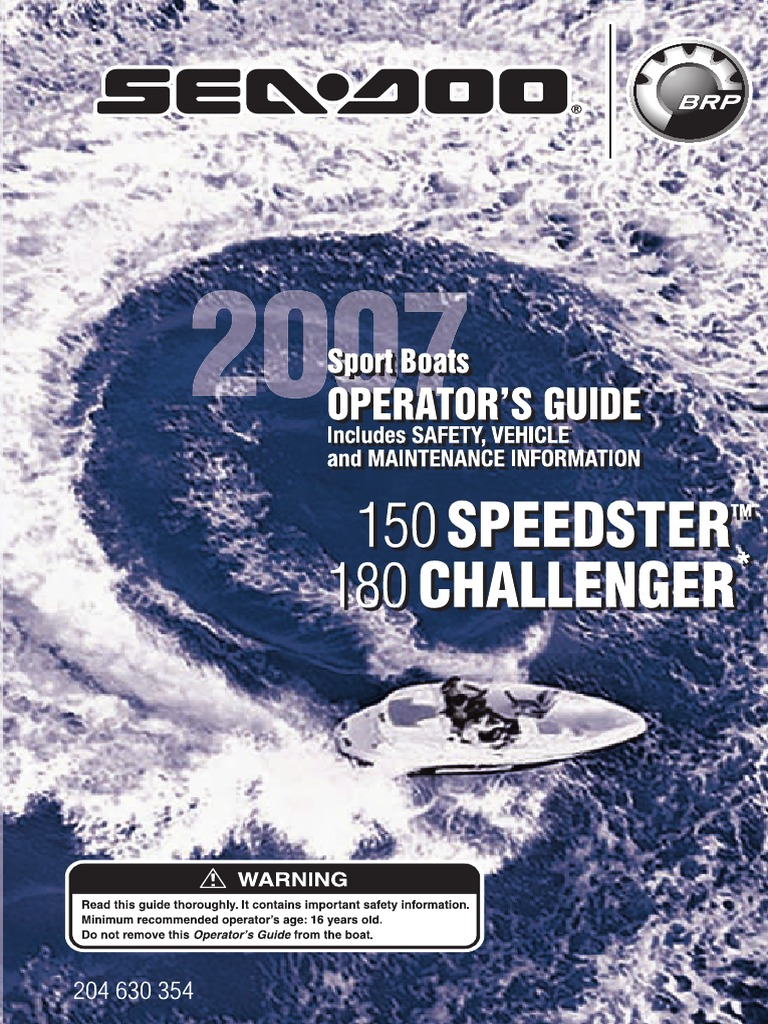Seadoo 180 Challenger operation and maintenance manual | Exhaust Gas |  Carbon Monoxide