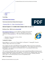 Internet Explorer 11 Certified With E-Business Suite 12.2 and 12