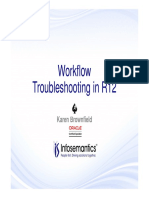 Workflow Troubleshooting in R12